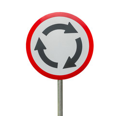 Roundabout sign isolate