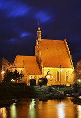 Church of St. Martin and Nicholas in Bydgoszcz. Poland