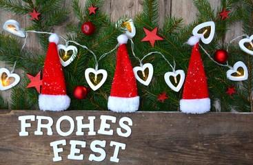 Weihnachtskarte - Frohes Fest