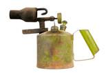 Vintage Kerosene Blowtorch Isolated on White Background poster