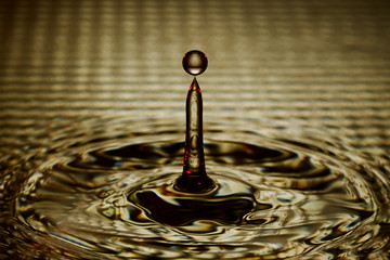 Water Drop Splash with Ripples
