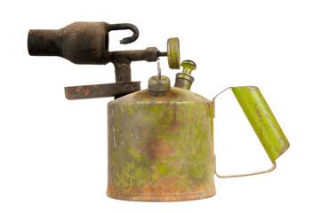 Vintage Kerosene Blowtorch Isolated on White Background