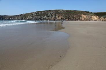 Fin de journée sur la plage.