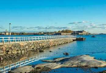 Long pier to the ocean