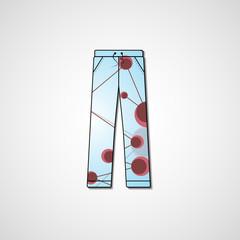 Abstract illustration on pants