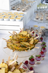 Fruit and dessert buffet