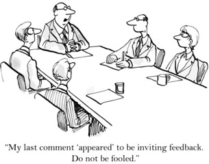 """My last comment 'appeared' to invite feedback..."""