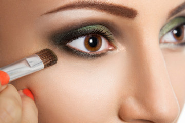 Glamour make up woman eye close up
