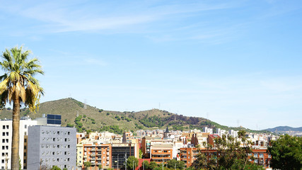 Panorámica de un barrio de Barcelona