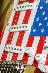 electric guitar American flag details