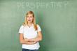 Frau denkt über Perpektive nach