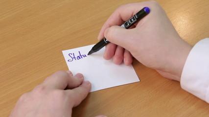Doctor writes stsatus alive