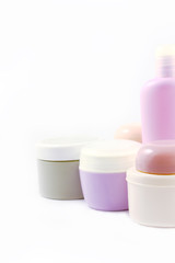 Containers of body care products