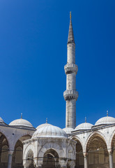 Blue Mosque domes and minaret