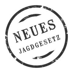 sk206 - StempelGrafik Rund - Neues Jagdgesetz - g2529
