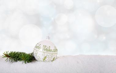 Weihnachtsdeko Frohe Weihnachten