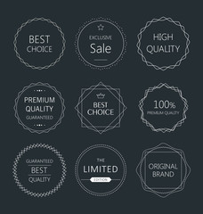 Minimalistic premium quality badge collection