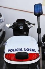 Motocicleta de la policía local