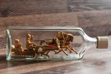 Handmade object in the bottle