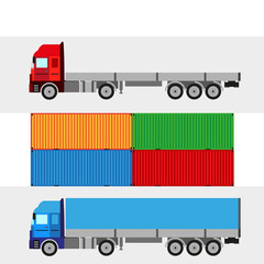 trucking warehouse vector background
