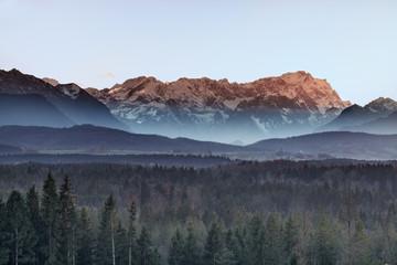 Blick auf das Wettersteingebirge
