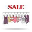Cute hand drawn illustration with sale of lingerie - 73062292