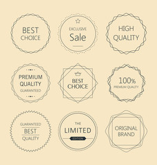 Minimalistic premium quality badge set