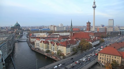 Aerial view on Berlin, Germany