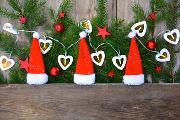 kleine Weihnachtsmützen