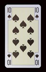 Spielkarten der Ladys - PIK Zehn