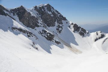 Small avalanche ski resort Krasnaya Polyana