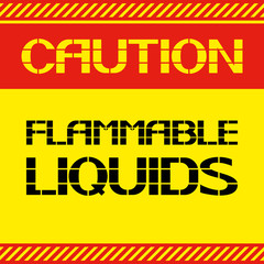 Caution .Flammable liquids.