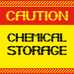 Caution .Chemical storage.