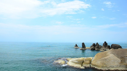 Waves gently up onto the rock, Samui Thailand. HD
