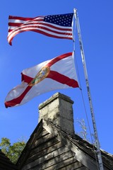 Chimney - Oldest Wooden Schoolhouse - St. Augustine