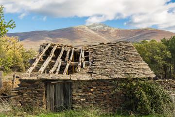 Slate house in ruins