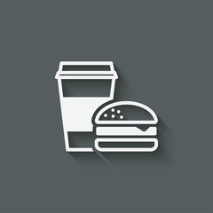 coffee and burger fast food