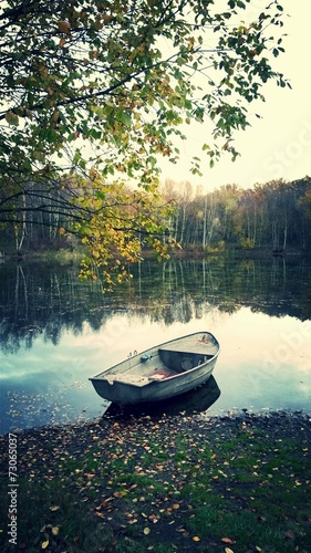 canvas print picture Boot am See
