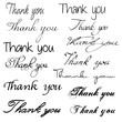 Thank you - calligraphy set