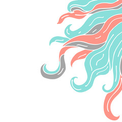 Frame from curls vector