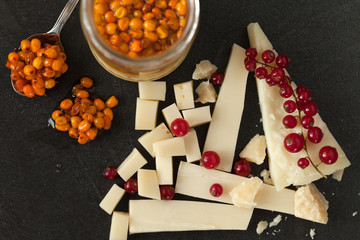 Cheese, Redcurrant And Sea Buckthorn Jam