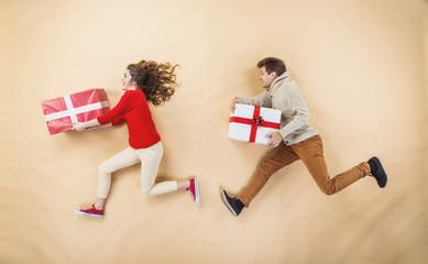 Happy Christmas couple