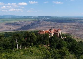 Jezeri castle and coal mine,Czech republic