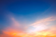Sky background on sunset - 73066210
