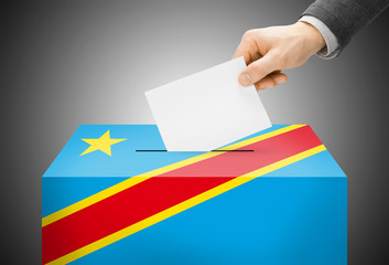 Ballot box as national flag - Republic of the Congo