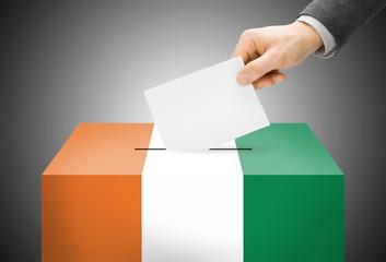 Ballot box as national flag - Cote d'Ivoire - Ivory Coast