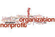 Постер, плакат: Nonprofit organization word cloud