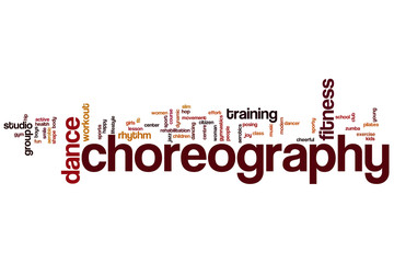 Choreography word cloud