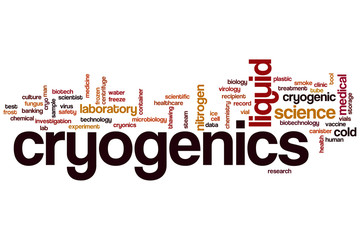Cryogenics word cloud