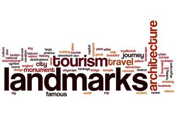 Landmarks word cloud